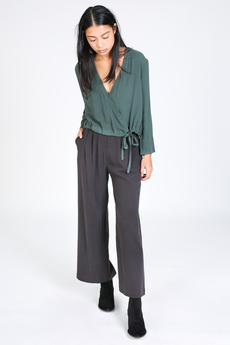 First Rite Crossover blouse in jade