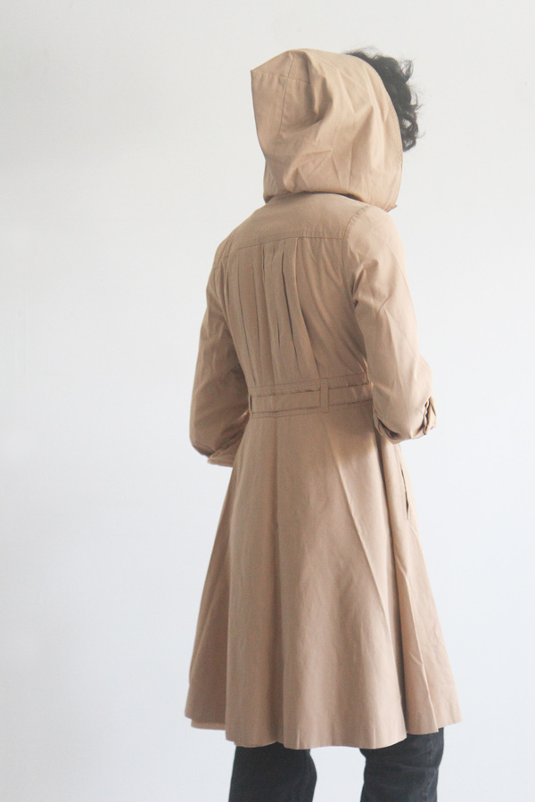 The Shudio Vintage Fitted Trench with hood
