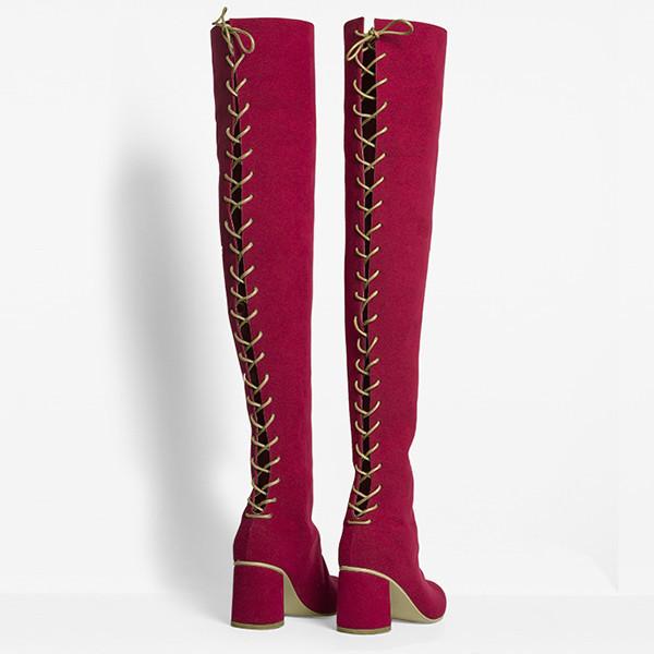 Rafa Stick Boot –Ruby