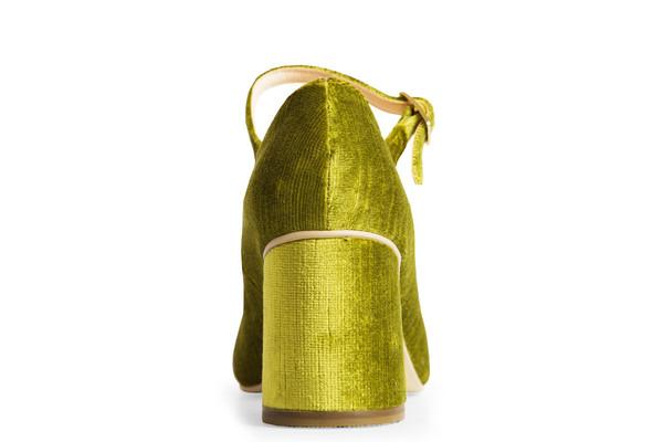 Rafa The Skipper Heel – Vert Velvet