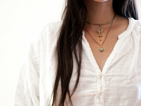 Laurel Hill Jewelry Io Pendant // Amazonite