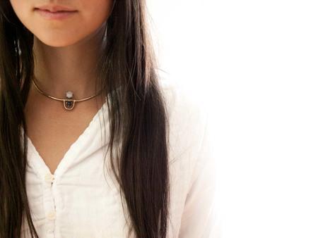 Laurel Hill Jewelry Arche Collar // Moonstone & Lapis