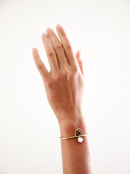 Laurel Hill Jewelry Arche Cuff // Moonstone & Lapis