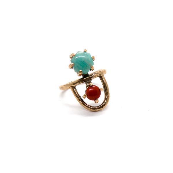 Laurel Hill Jewelry Arche Ring // Amazonite & Red Jasper