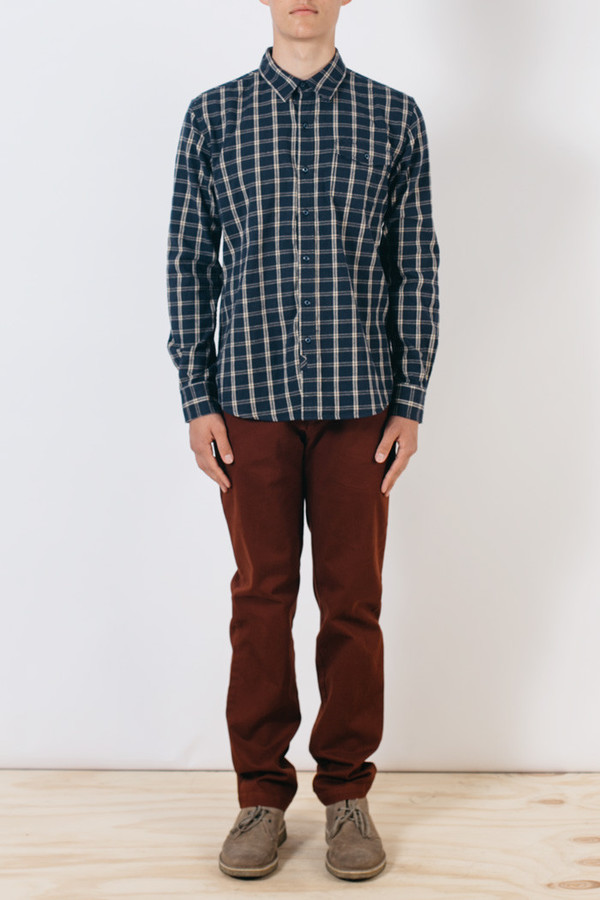 Men's Bridge & Burn Clinton Navy Plaid