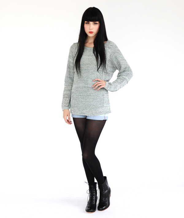 Shakuhachi  Pointelle Sweater