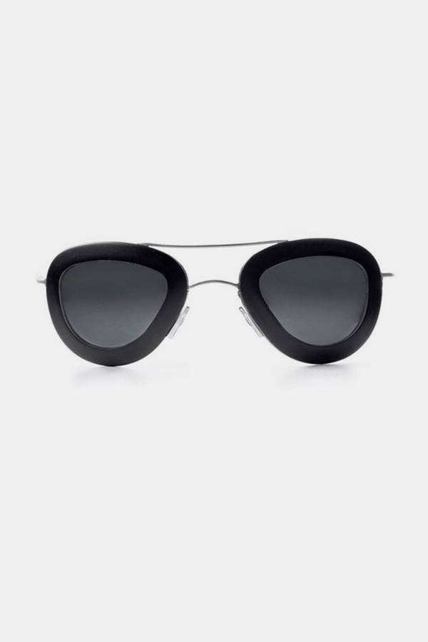 Men's Haal Aluminum Erika Sunglasses - Black/Black
