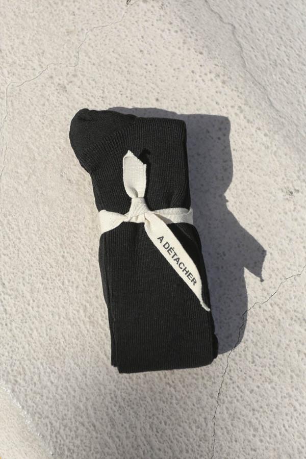 A Détacher Over-the-Knee Socks in Black