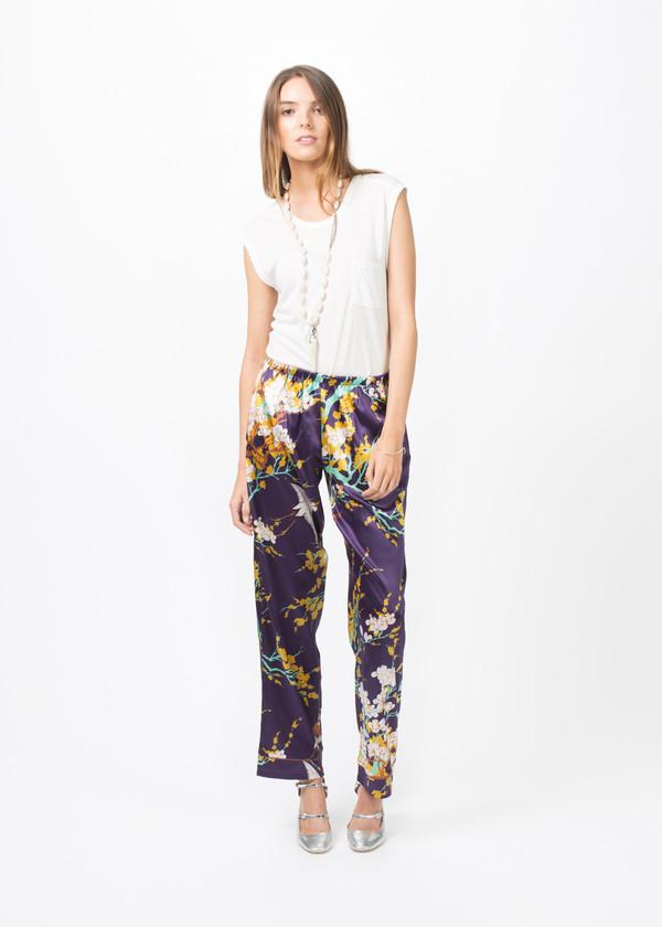 Laura Urbinati Silk Pajama Trouser