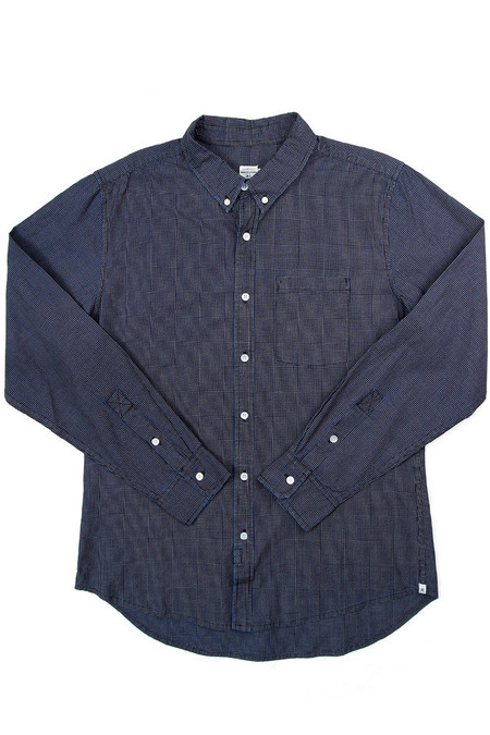 Men's Bridge & Burn Fulton Dark Indigo Grid