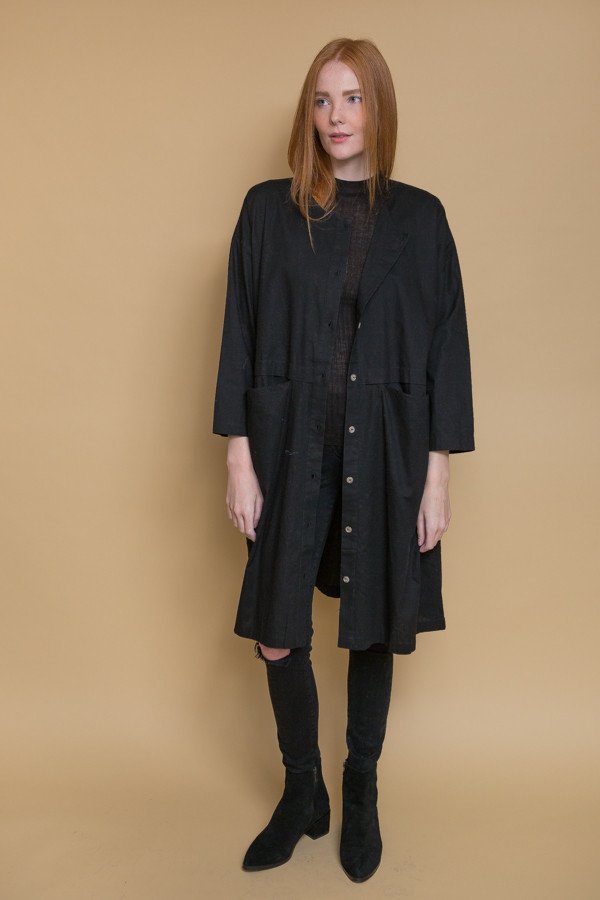 Revisited Matters Raincoat Dress - Black