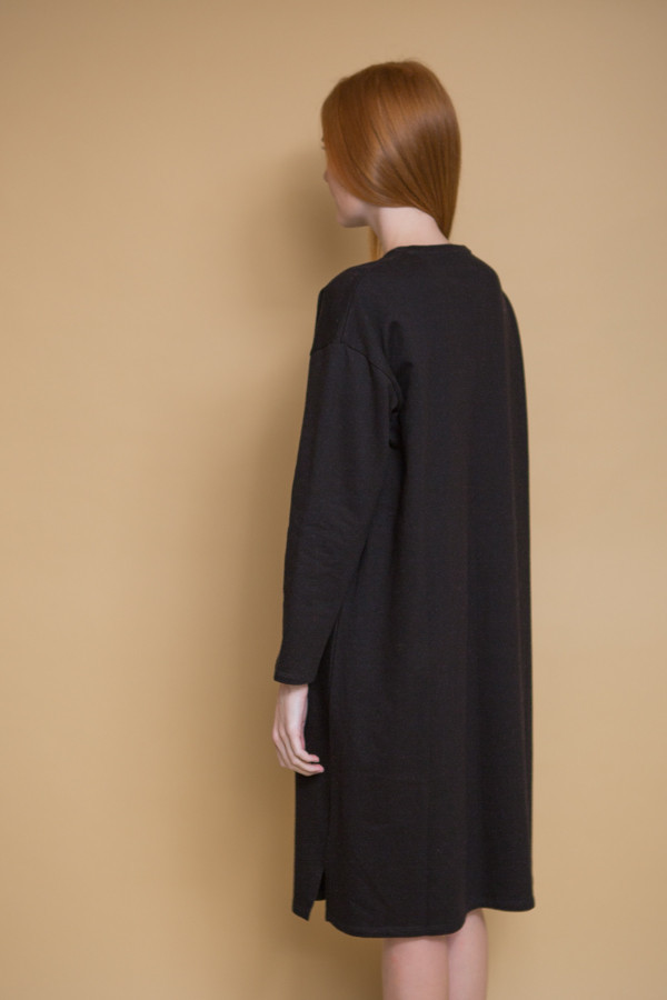 Revisited Matters T-Shirt Sweater Dress / Black