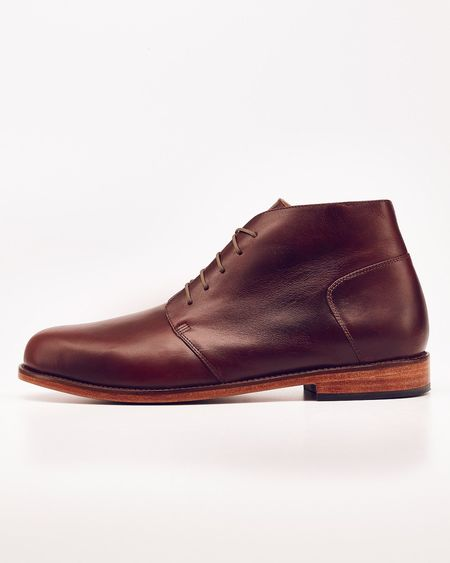 Men's Nisolo Emilio Chukka Boot Brandy 5 for 5