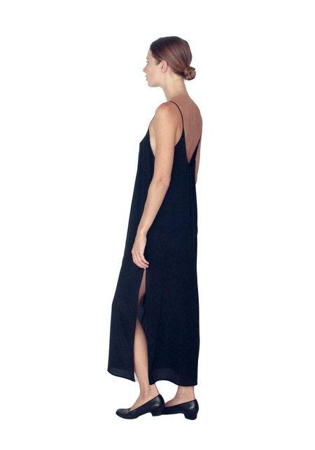 Strathcona Black Silk Slip Dress