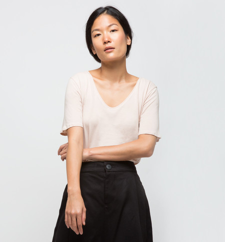 Kowtow Building Block V Tee Blush
