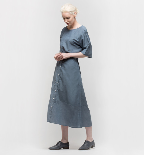 Kowtow Radius Top Navy Chambray