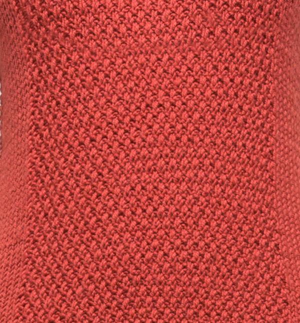 VOZ Textured Mock Neck Brick