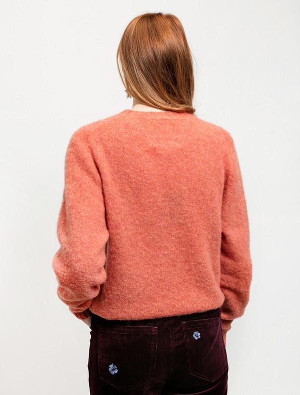 Trademark Embroidered Shetland Sweater Peach