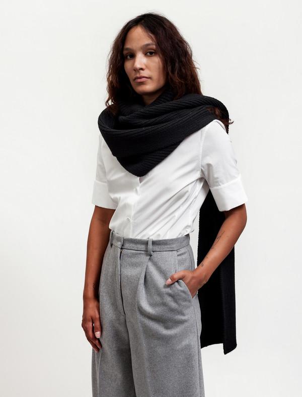 Acne Studios Womens Jadyn Wool Scarf Black