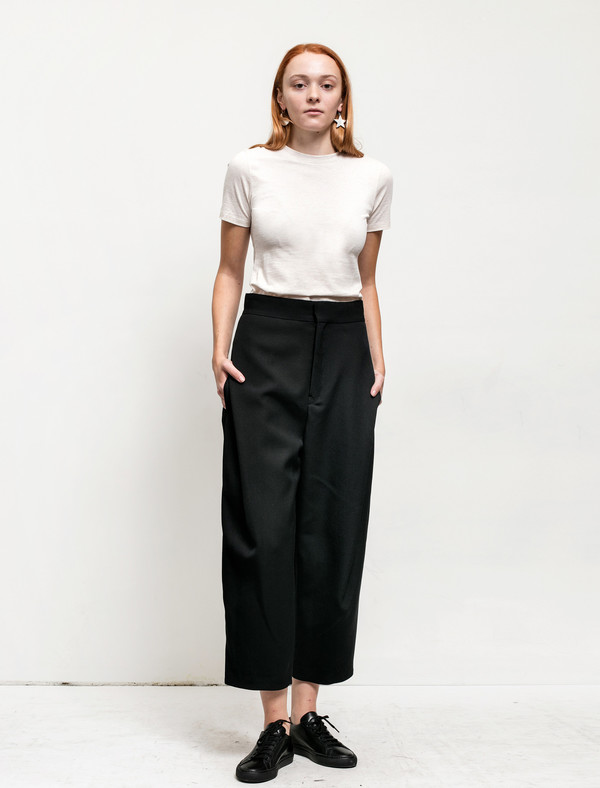 Ys by Yohji Yamamoto Womens Tuck Pleat Trousers