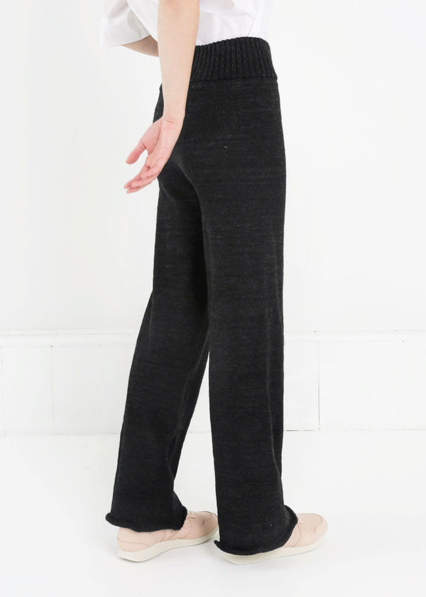 été noir Heavyweight Knit Trousers