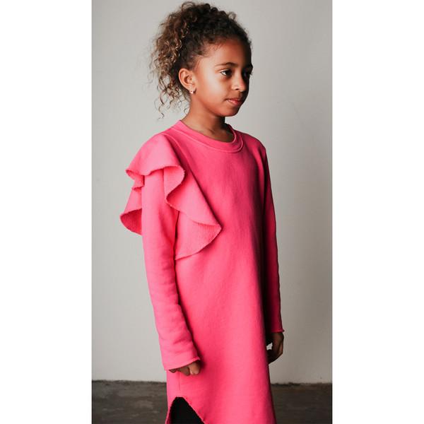 Mimobee Jetset Ruffle Dress - Berry Berry