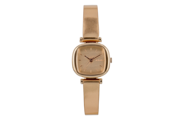 Komono - Rose Gold Leather Strap