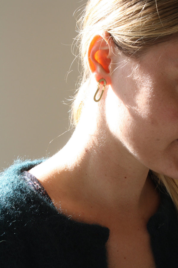 Blank Verse Brass Earrings