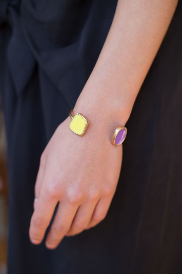 Studio Sophia Sophia Single Wire Bracelet (Yellow and Purple)