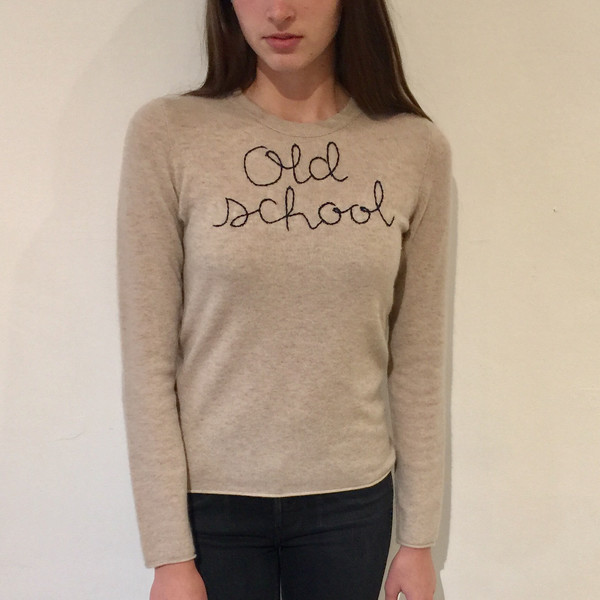 Lingua Franca NYC Cashmere Sweater - Old School