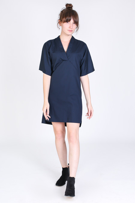 SBJ Austin Kelly dress in navy poplin