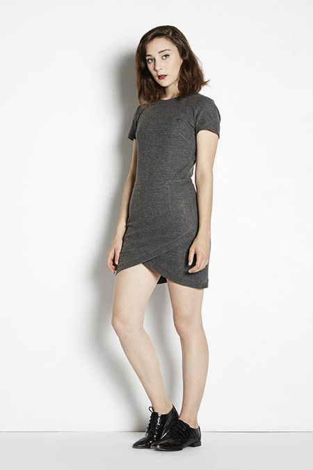 Shades of Grey  Wrap Mini Dress