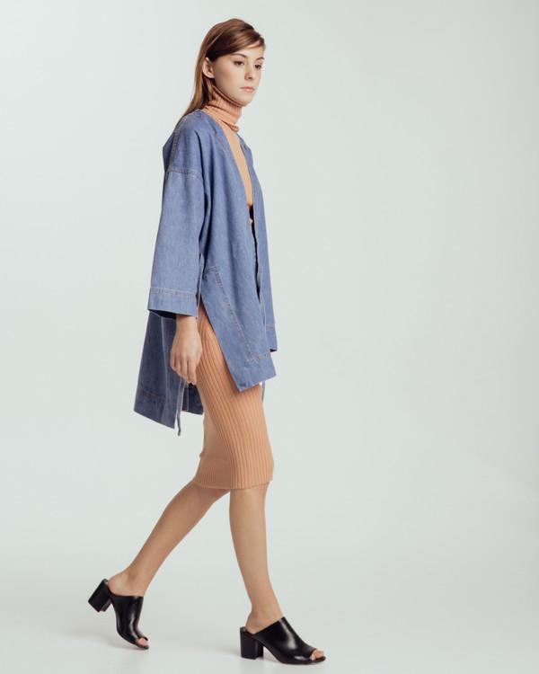 Caron Callahan Carson Kimono in Denim