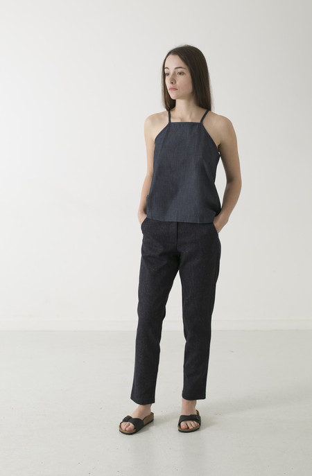 GOOD STUDIOS WOMENS HEMP LINEN PINAFORE TOP