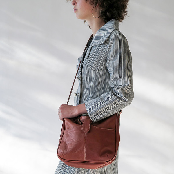 Erica Tanov leather shoulder bag