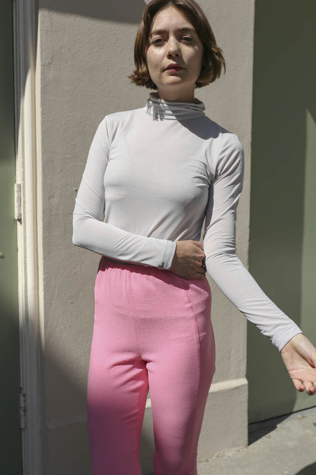Maryam Nassir Zadeh Bianca Turtleneck in Grey