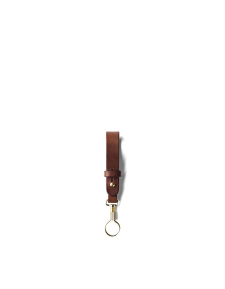 Tanner Goods Key Ring Lanyard Cognac