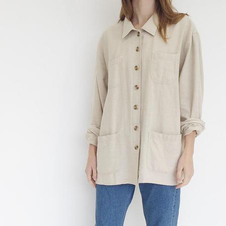 Johan Vintage Beige Linen Blend Work Jacket