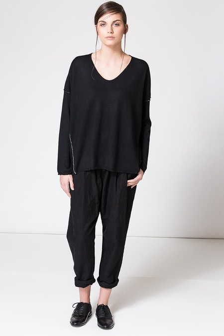 Paychi Guh Cashmere L/S Boxy Tee Black