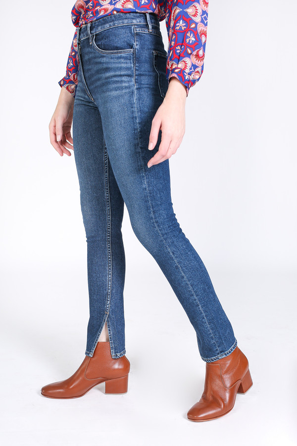 3x1 Split seam skinny jean in dark sterling