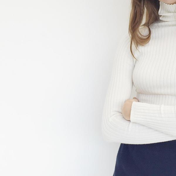 Johan Vintage Ivory Turtleneck Sweater