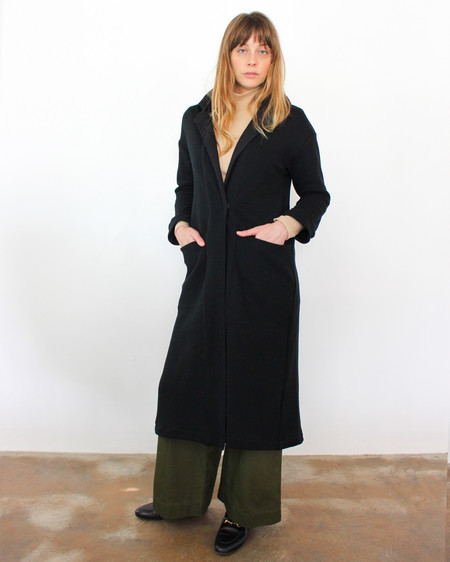 esby RAMONA KNIT DUSTER - BLACK