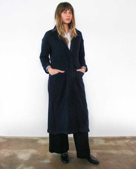 esby RAMONA KNIT DUSTER - NAVY