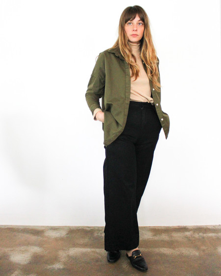 esby STELLA L/S BUTTON DOWN - OLIVE