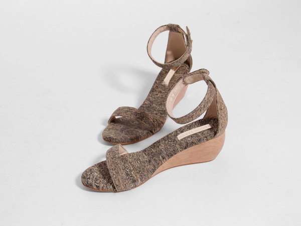 Sydney Brown Wedge Sandal - Tawny/Natural
