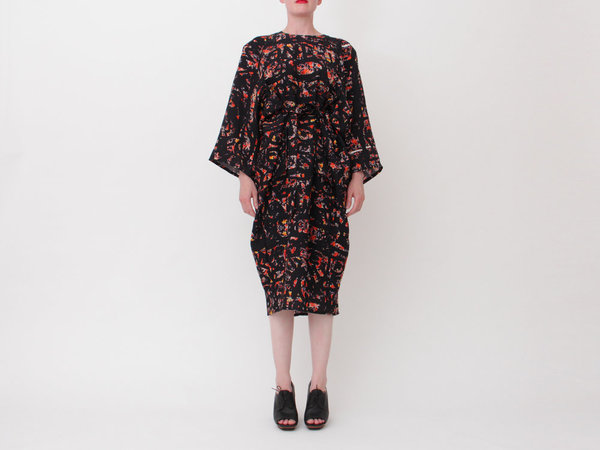 ANNTIAN Shapy Dress - C Print
