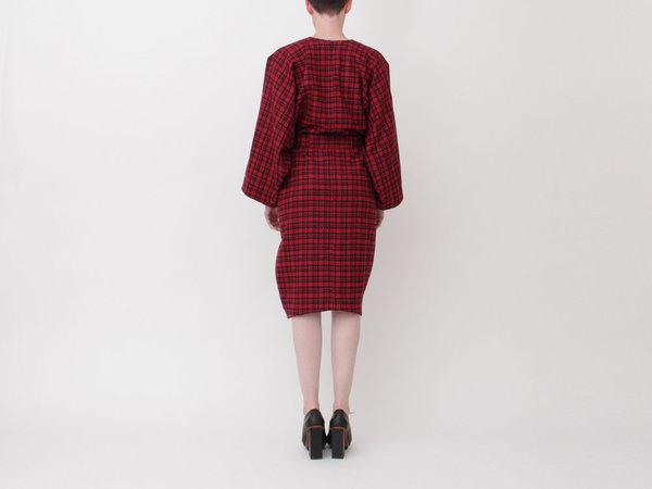 ANNTIAN Shapy Dress - Plaid