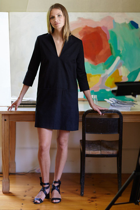 EMERSON FRY MOD DRESS IN BLACK