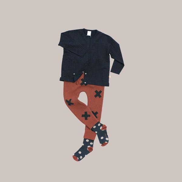 Kid's Tiny Cottons KNIT LOGO PANT - TERRACOTTA