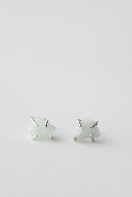 Aquamarine Prong Stud Earrings by giantLION